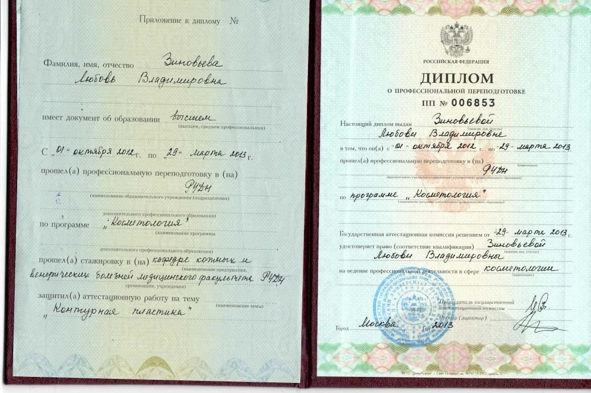 Зиновьева Л.В. Диплом Л.В 29.03.2013